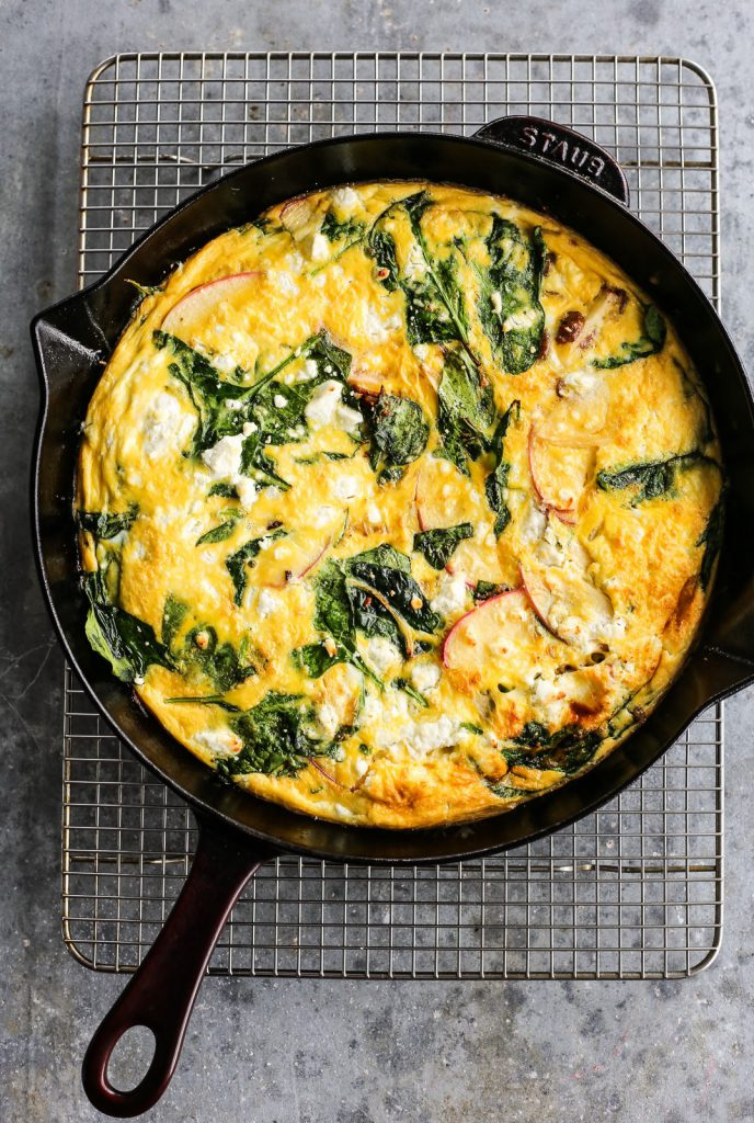 Sausage, Apple and Goat Cheese Frittata - The Defined Dish