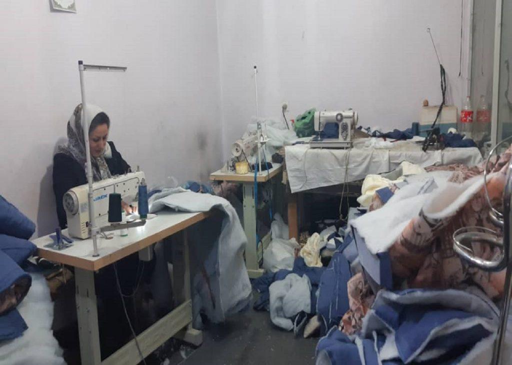 بازدید از پیشران خیاطی در راستای طرح ملی توسعه مشاغل خانگی استان قزوین